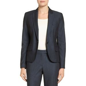 New Anne Klein Denim Twill Blazer Trouser Set